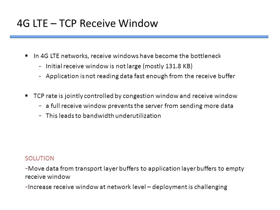 4G LTE – TCP Receive Window