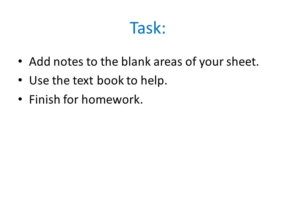 Task: Add notes to the blank areas of your sheet.