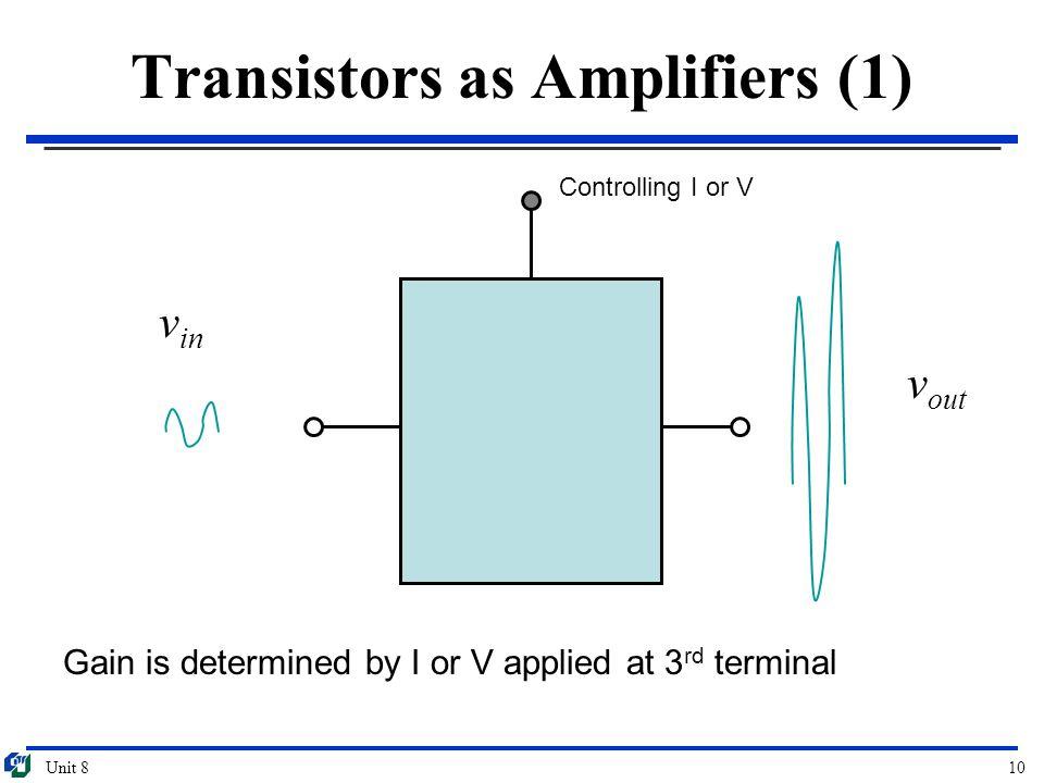 Transistors as Amplifiers (1)