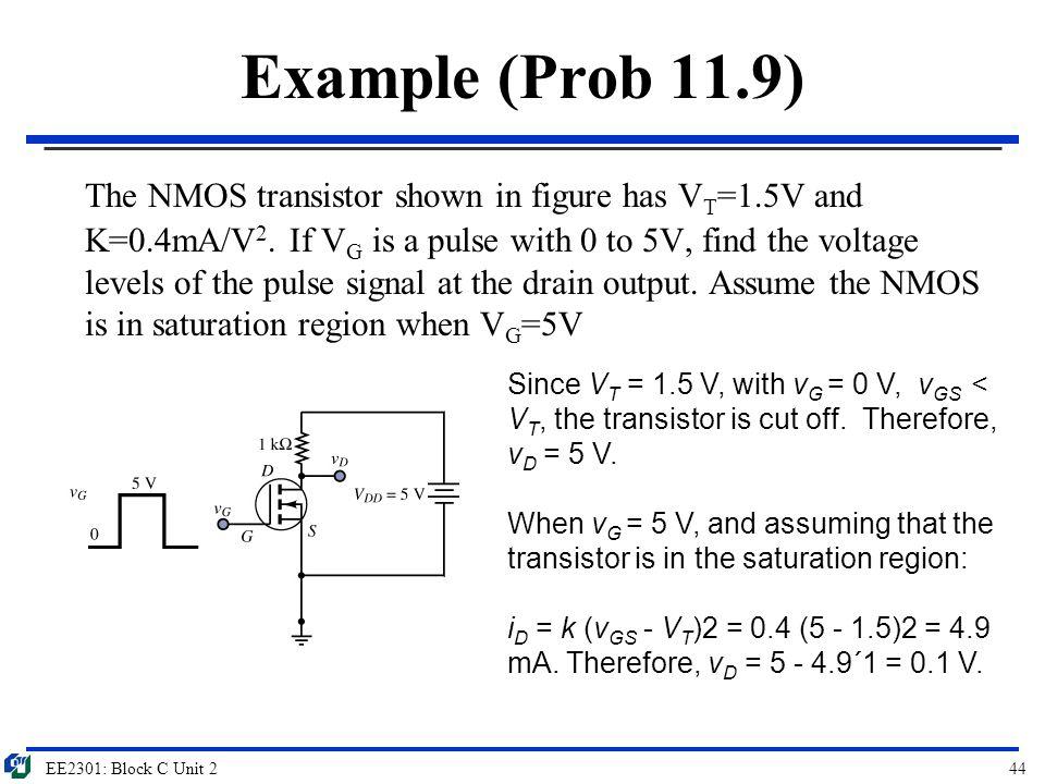 Example (Prob 11.9)