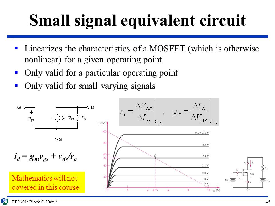 Small signal equivalent circuit