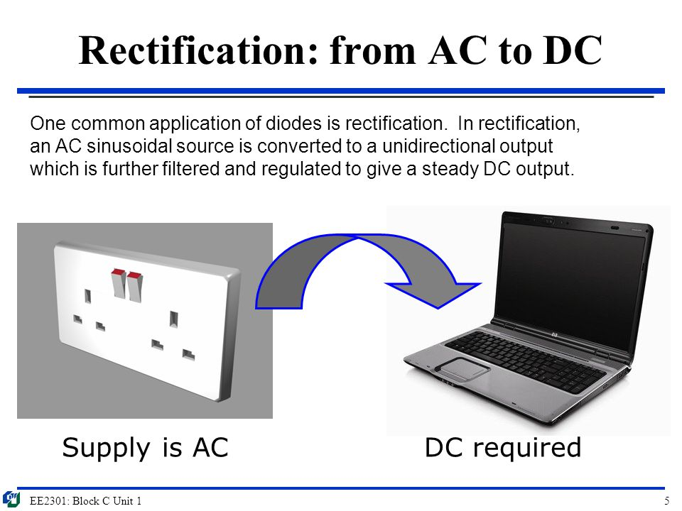 Rectification: from AC to DC