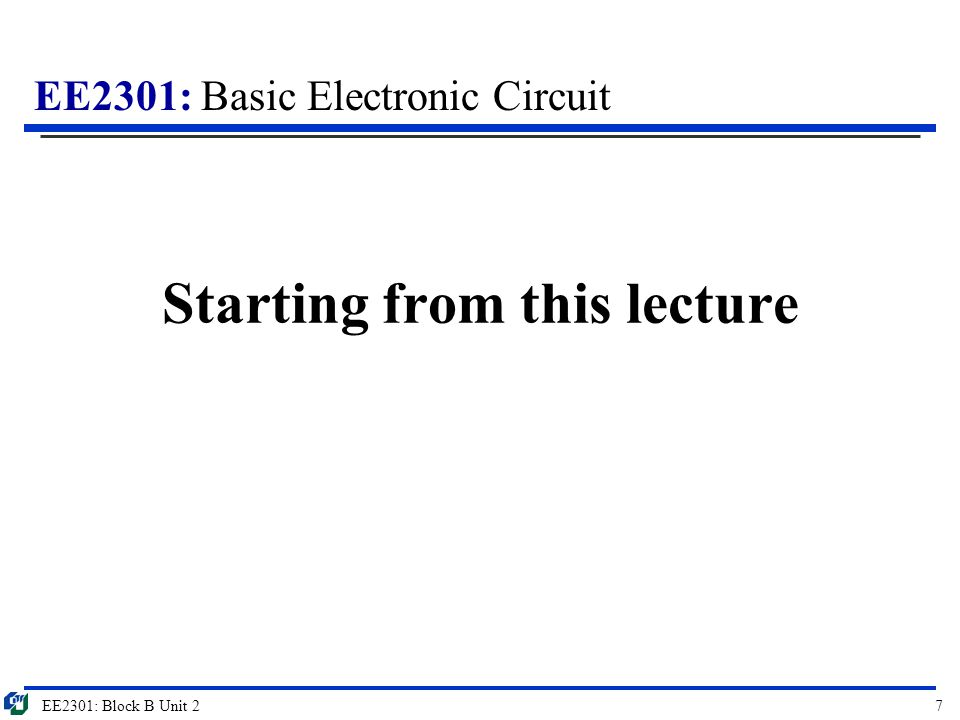 Starting from this lecture