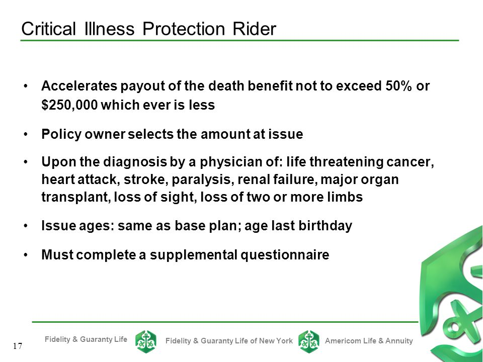 Critical Illness Protection Rider
