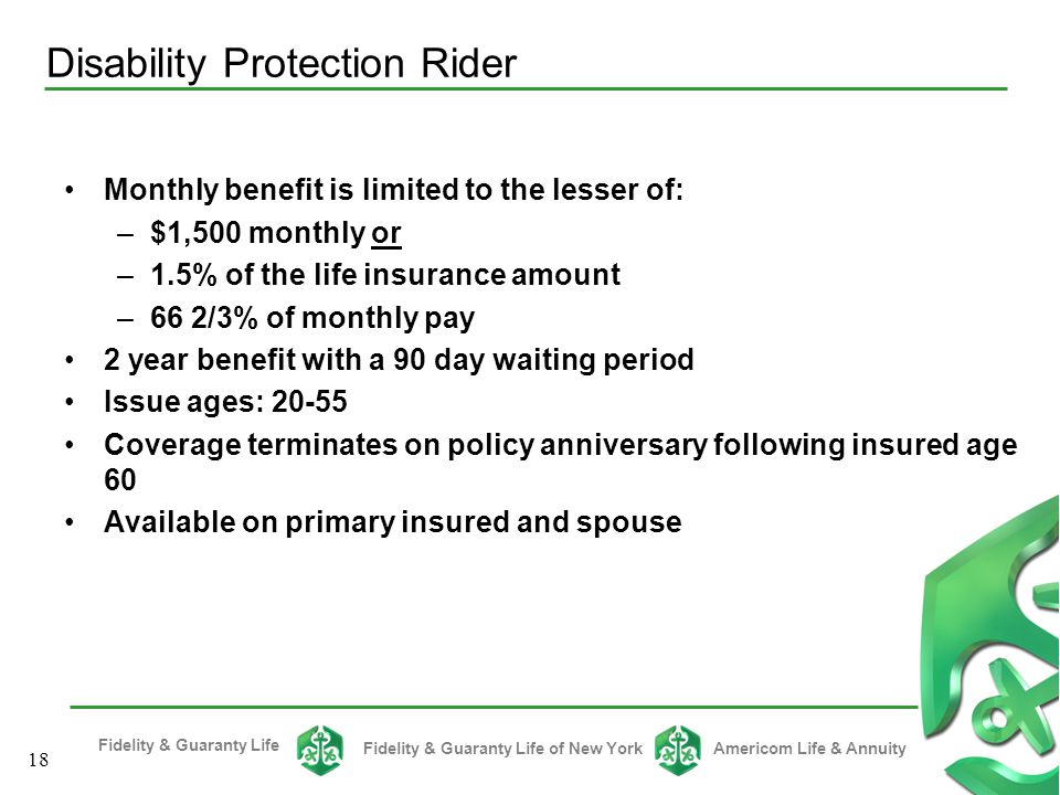 Disability Protection Rider
