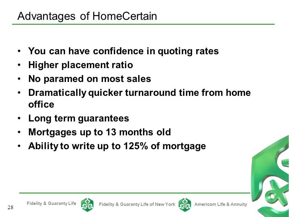 Advantages of HomeCertain