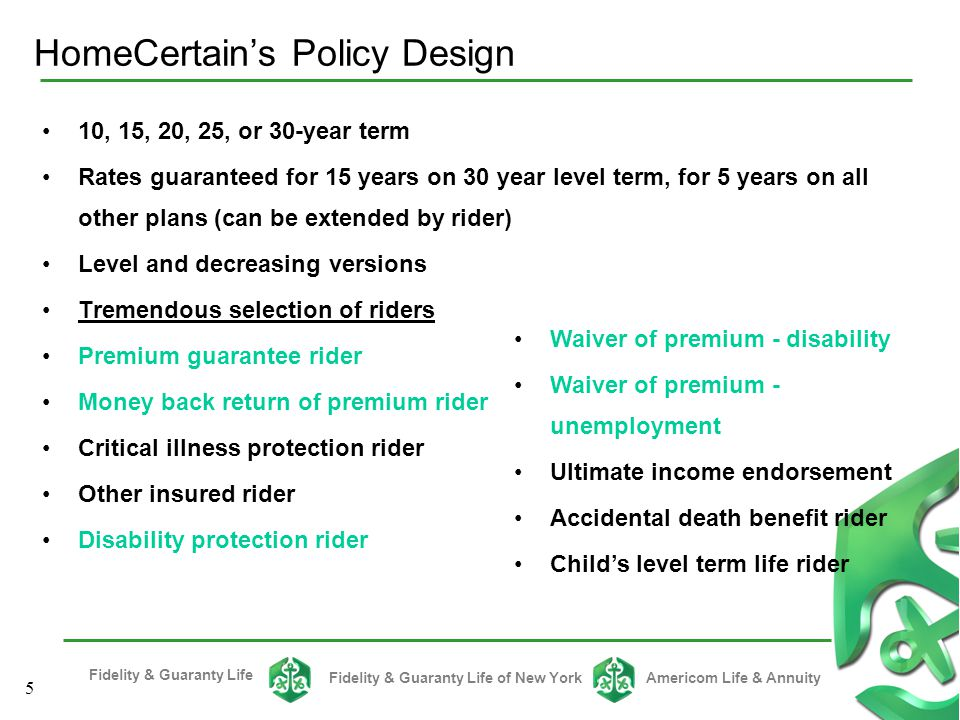 HomeCertain's Policy Design