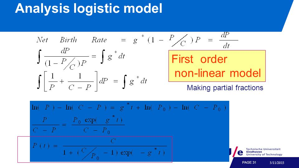 Simulation of logistic model