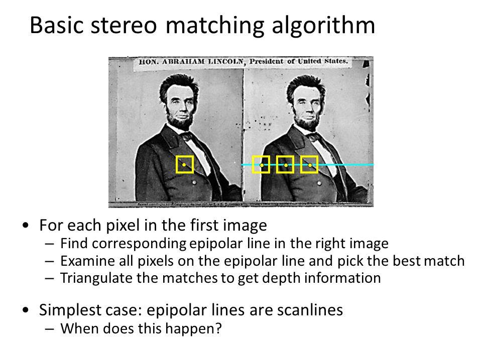 Basic stereo matching algorithm