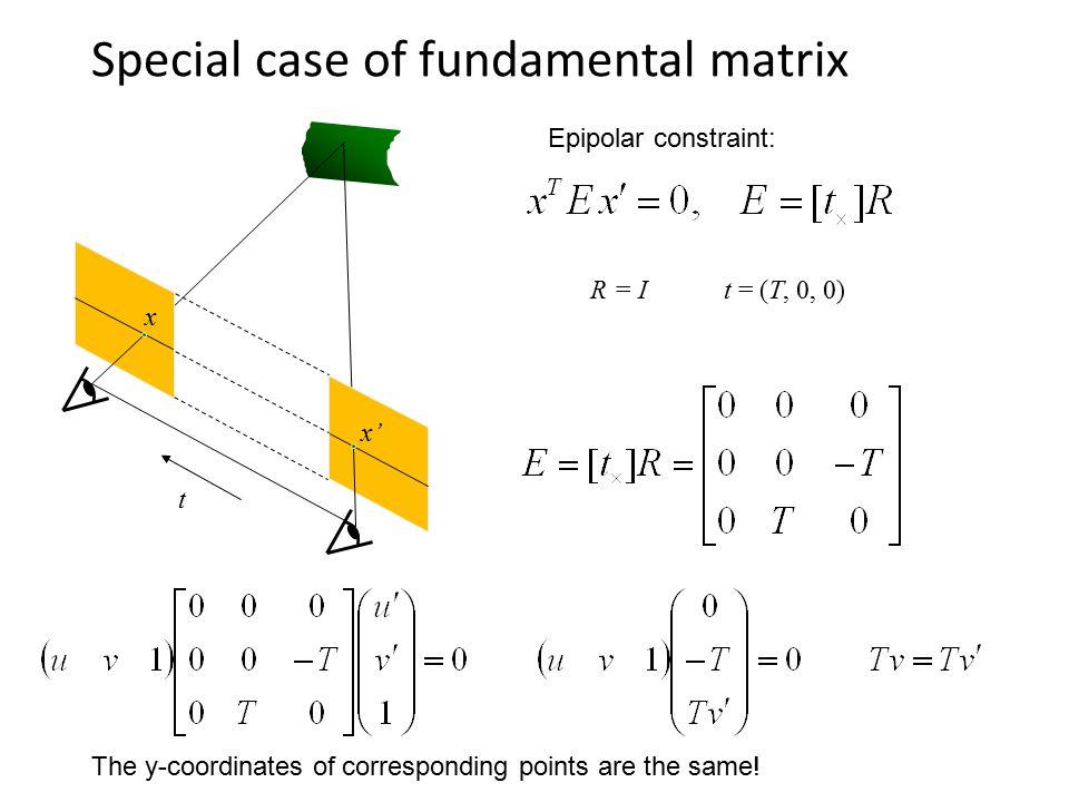 Special case of fundamental matrix