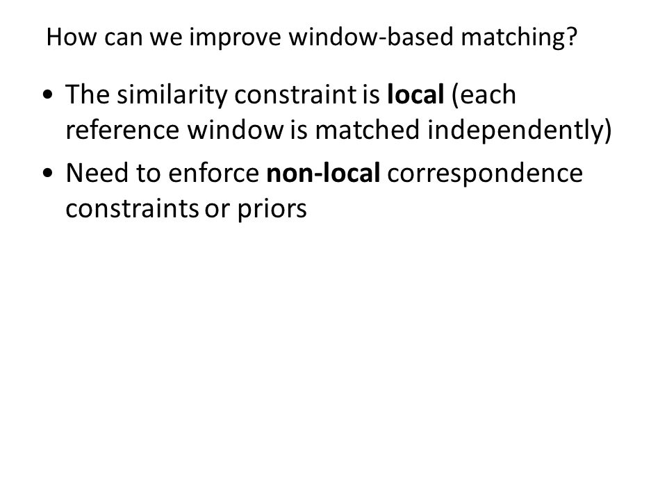 How can we improve window-based matching
