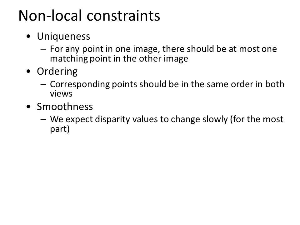 Non-local constraints