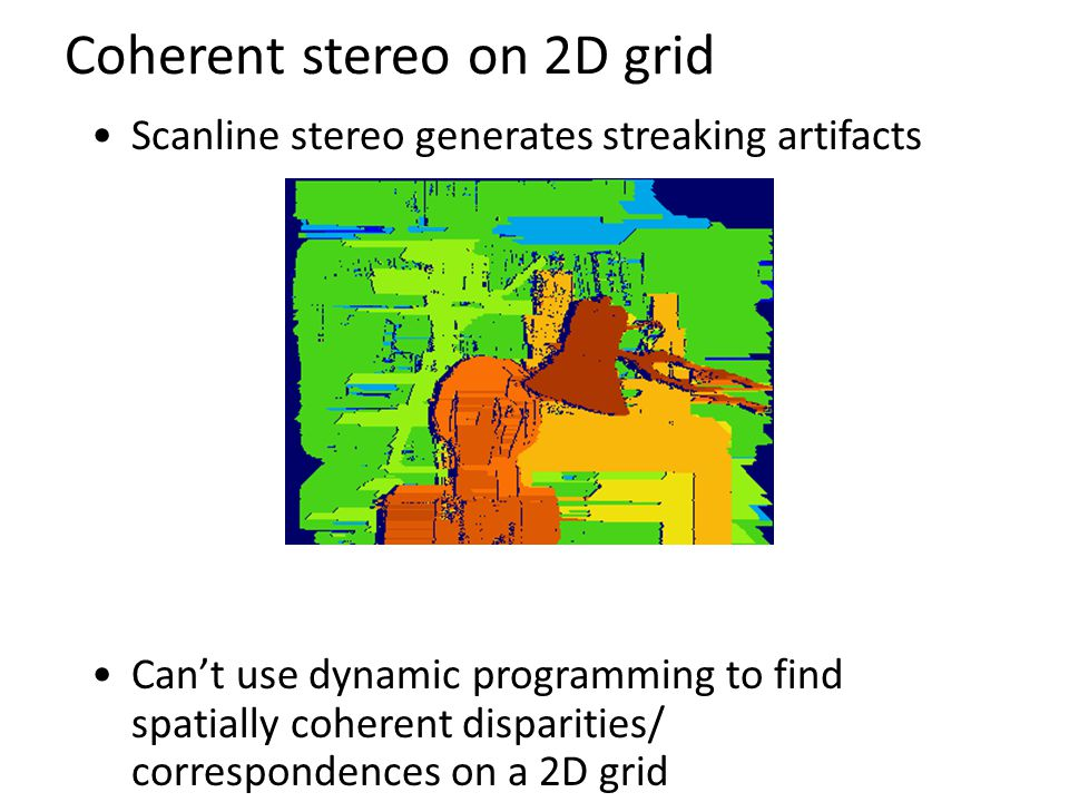 Coherent stereo on 2D grid