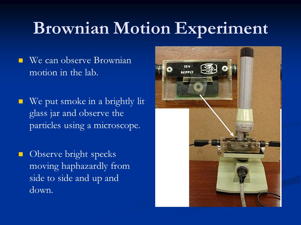 Brownian Motion Experiment