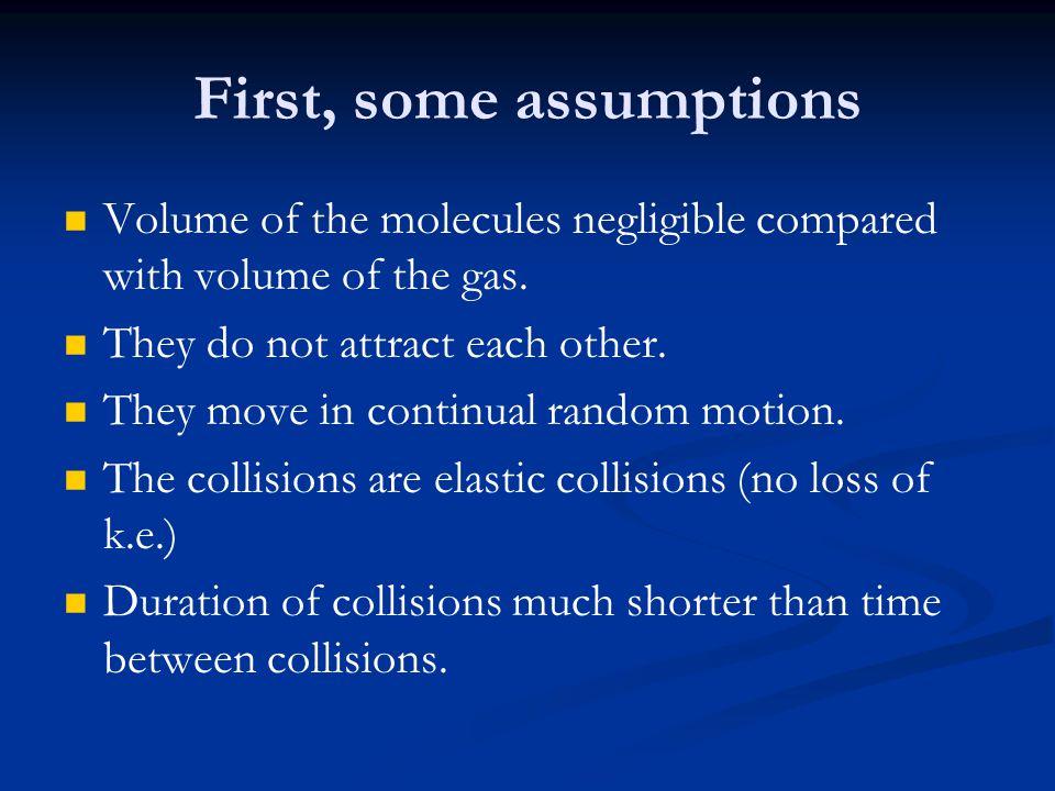 First, some assumptions