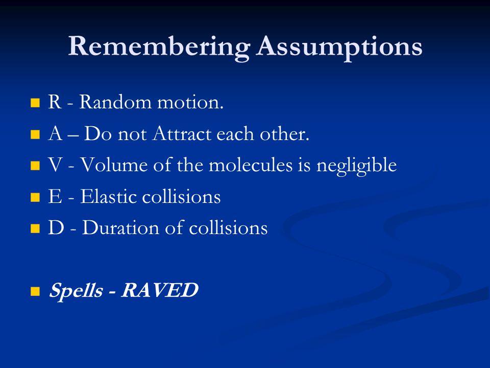 Remembering Assumptions