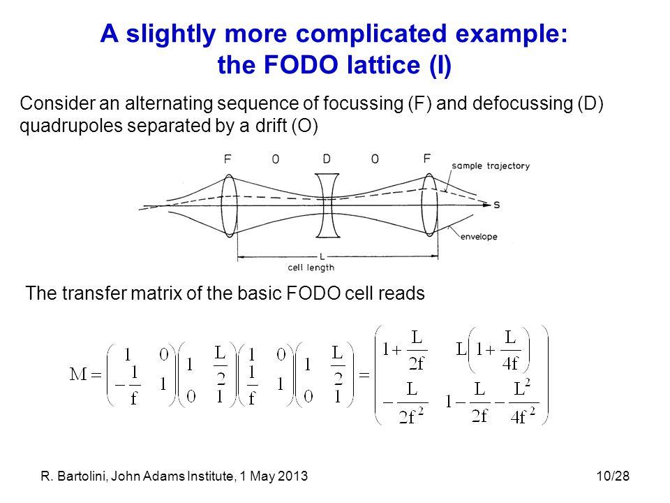 A slightly more complicated example: the FODO lattice (I)