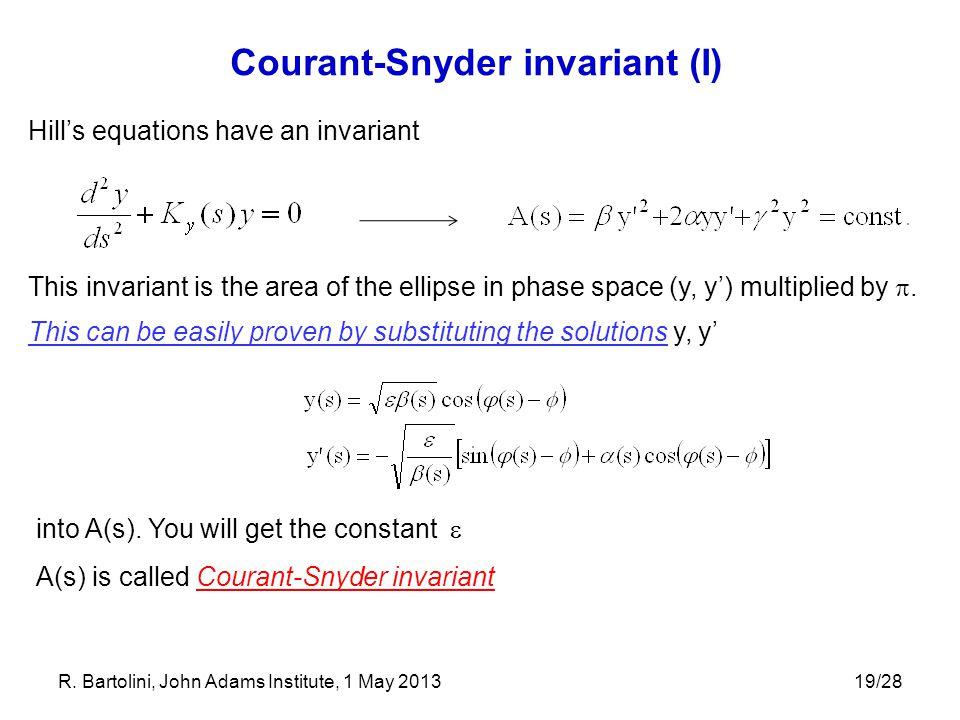 Courant-Snyder invariant (I)