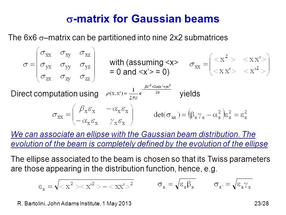 -matrix for Gaussian beams