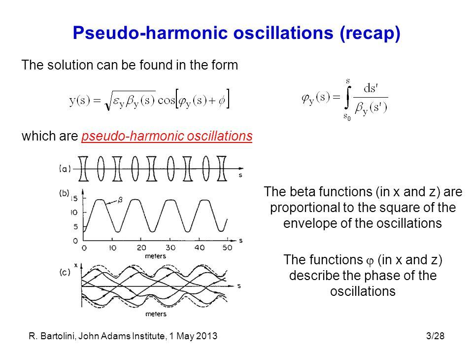 Pseudo-harmonic oscillations (recap)