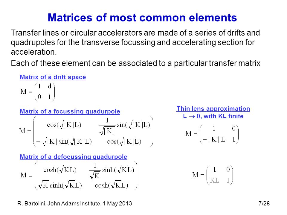 Matrices of most common elements