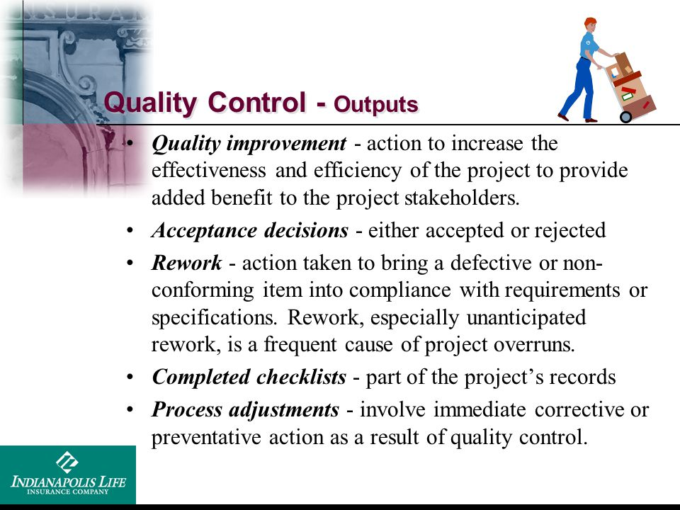 Quality Control - Outputs