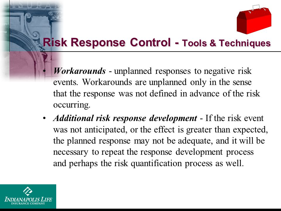Risk Response Control - Tools & Techniques