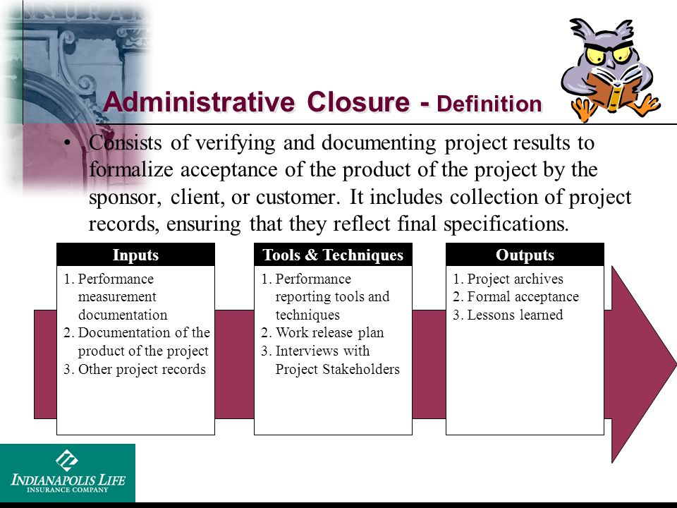 Administrative Closure - Definition