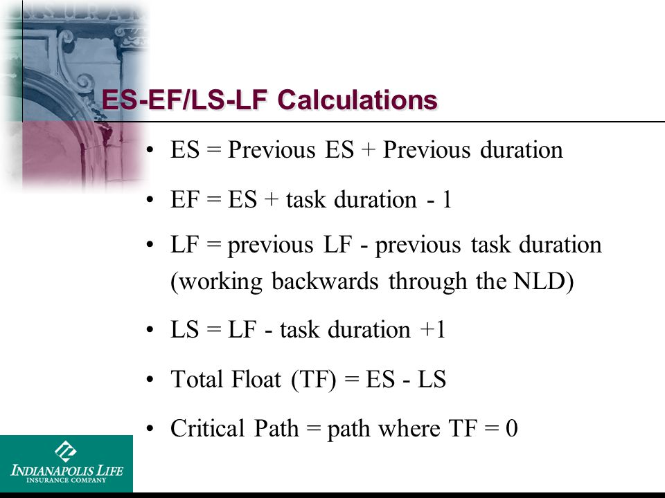 ES-EF/LS-LF Calculations