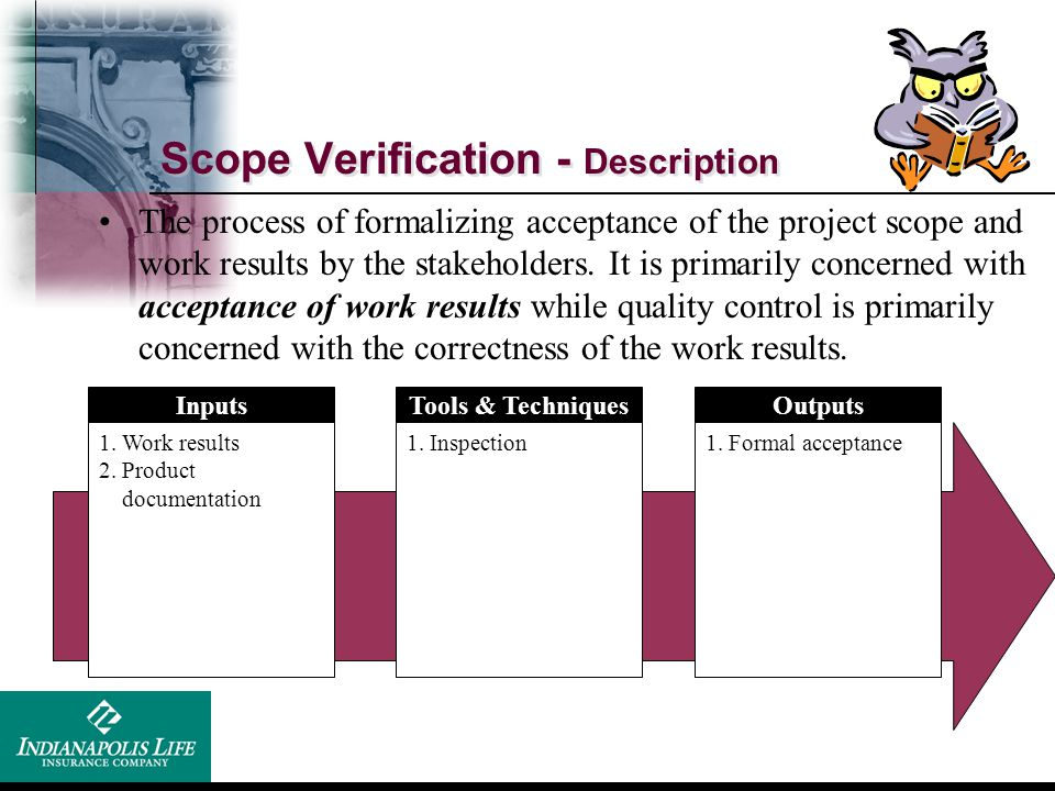 Scope Verification - Description