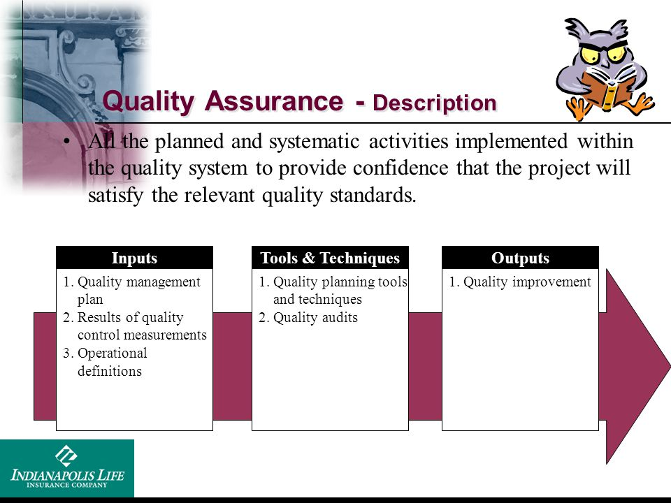 Quality Assurance - Description