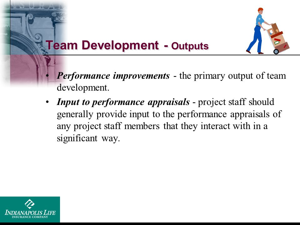 Team Development - Outputs