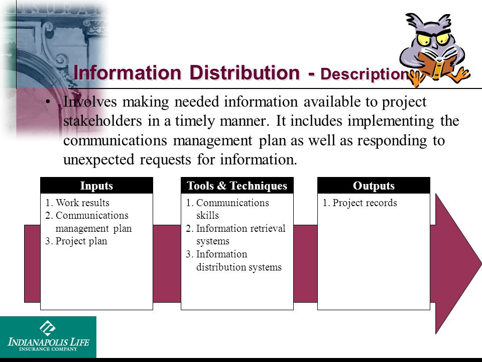 Information Distribution - Description