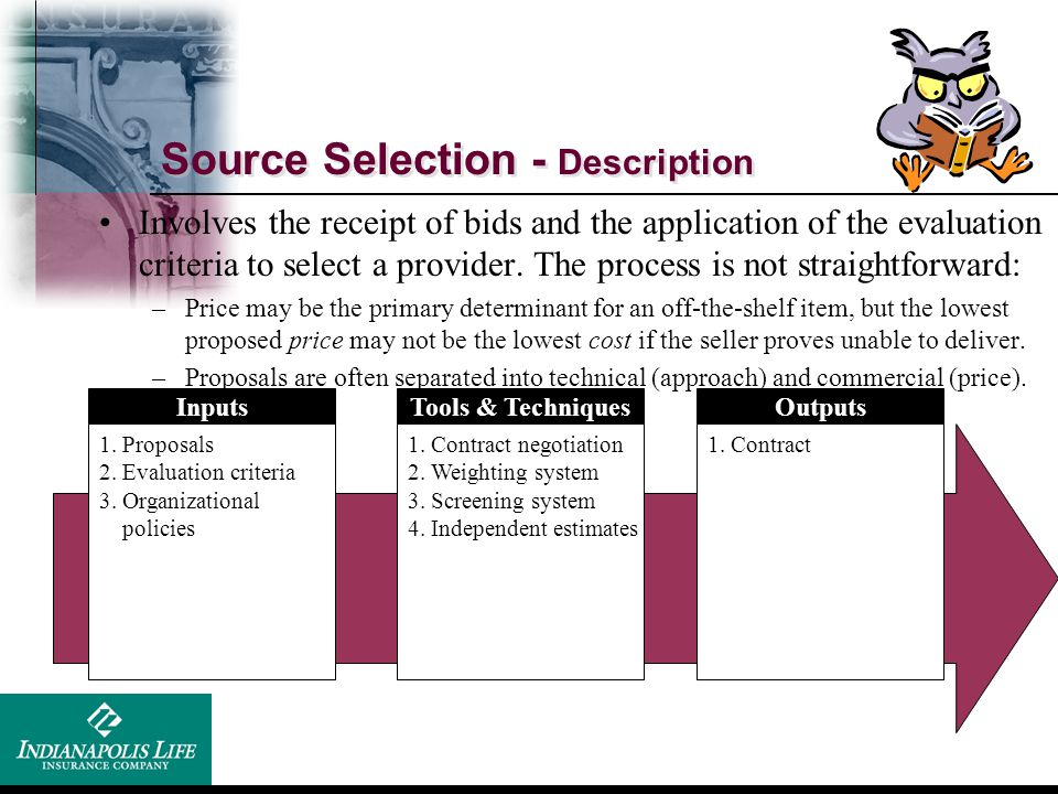 Source Selection - Description