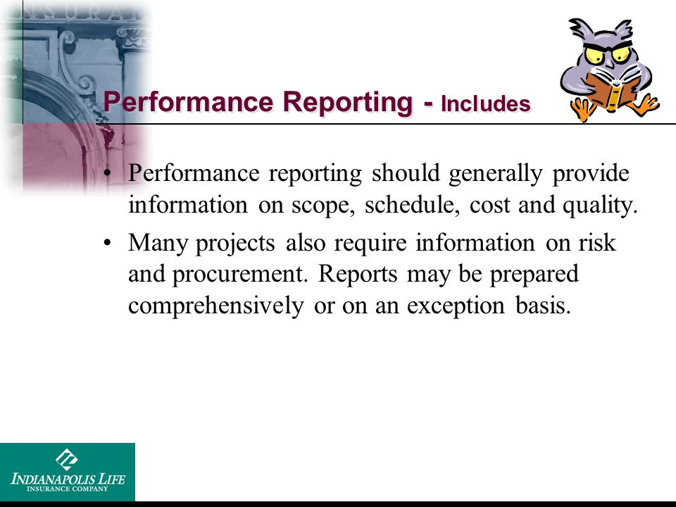 Performance Reporting - Includes