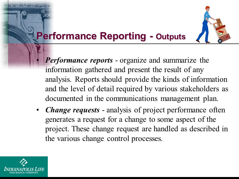 Performance Reporting - Outputs