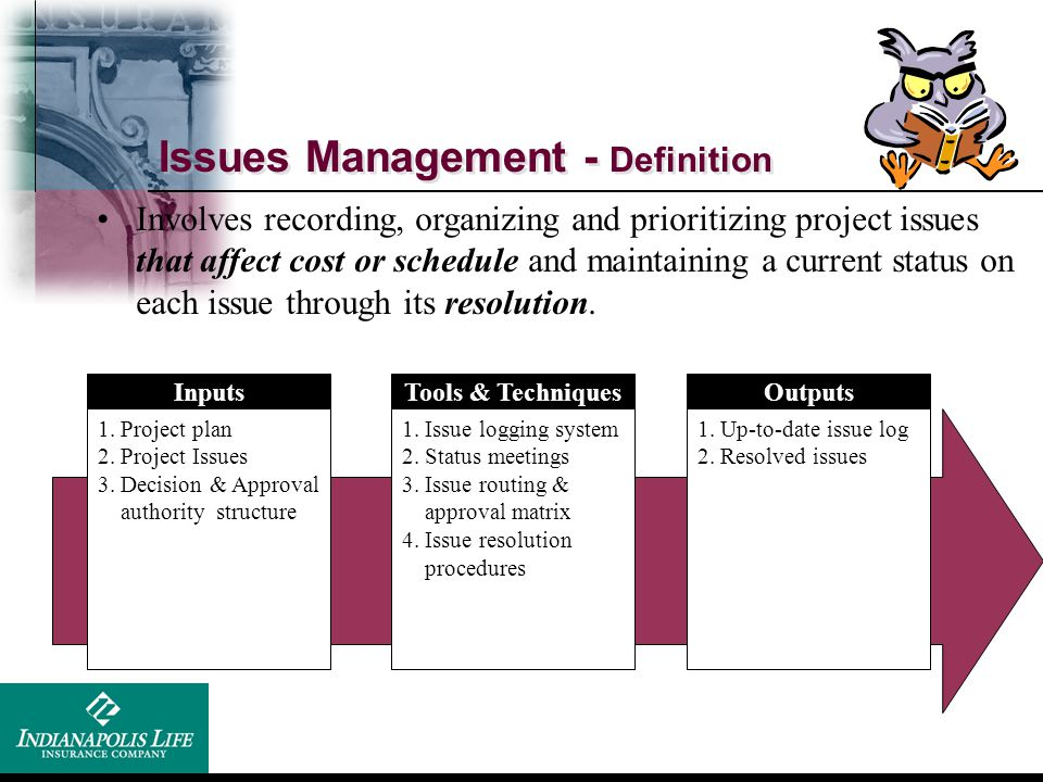 Issues Management - Definition