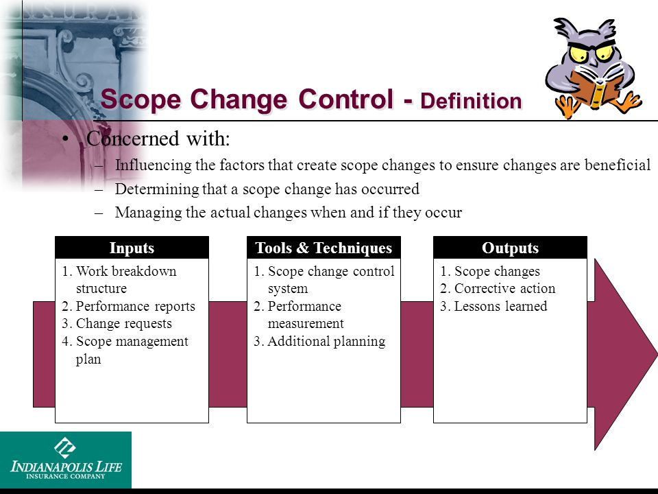 Scope Change Control - Definition