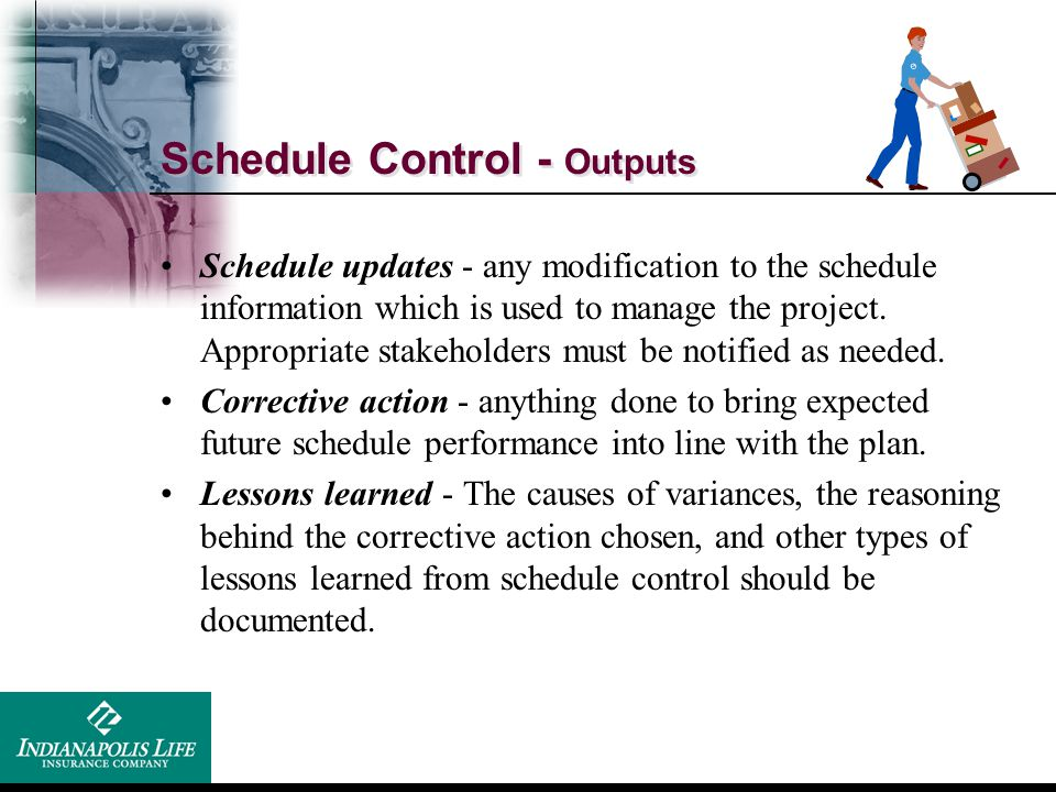 Schedule Control - Outputs