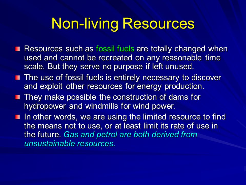 Non-living Resources