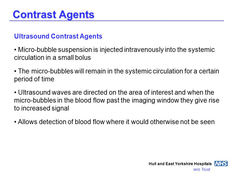 Contrast Agents Ultrasound Contrast Agents