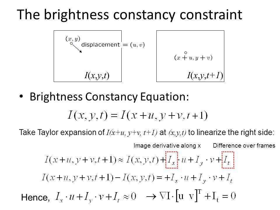 The brightness constancy constraint