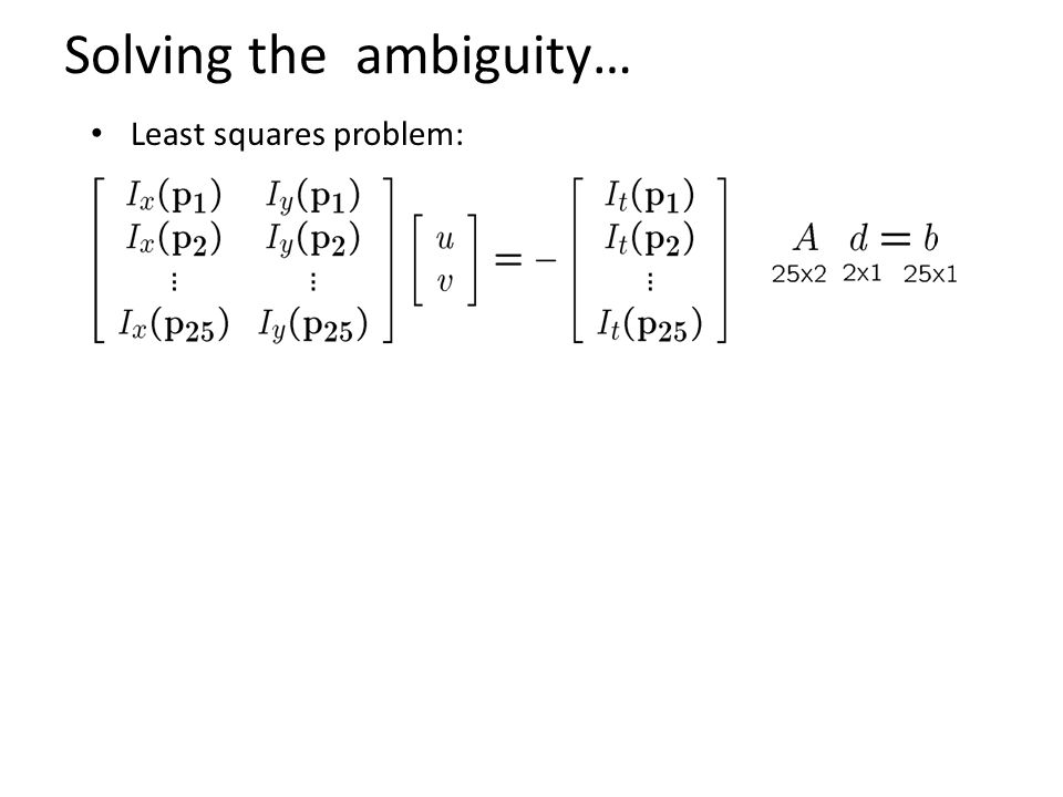 Solving the ambiguity…