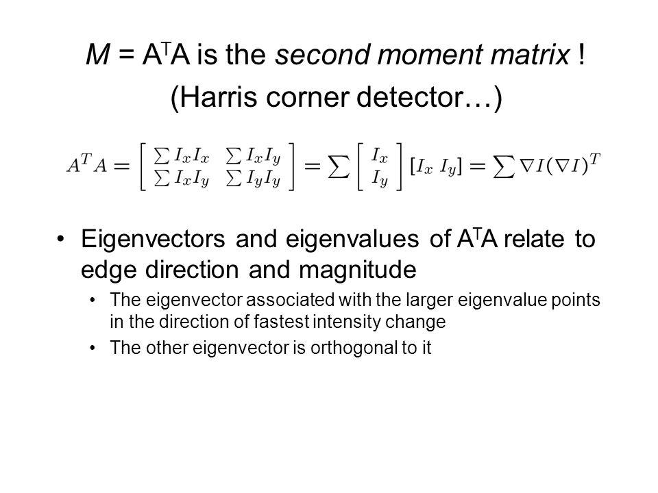 M = ATA is the second moment matrix ! (Harris corner detector…)