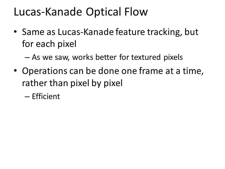 Lucas-Kanade Optical Flow