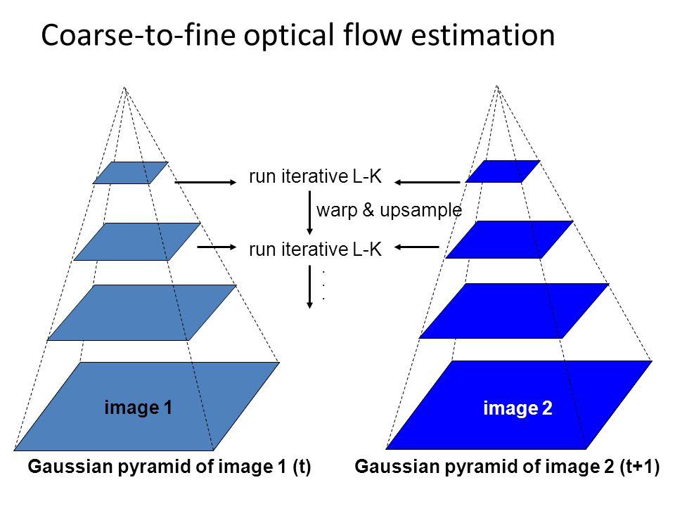 Coarse-to-fine optical flow estimation
