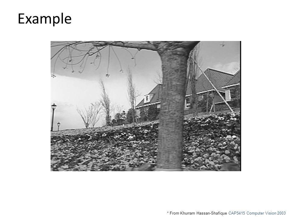 Example * From Khurram Hassan-Shafique CAP5415 Computer Vision 2003