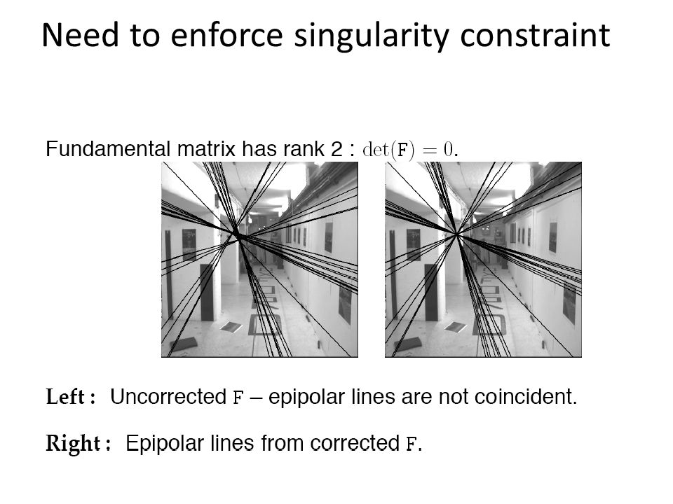 Need to enforce singularity constraint