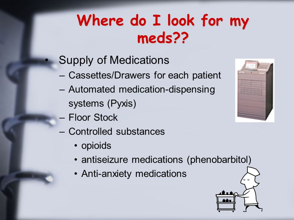 Where do I look for my meds