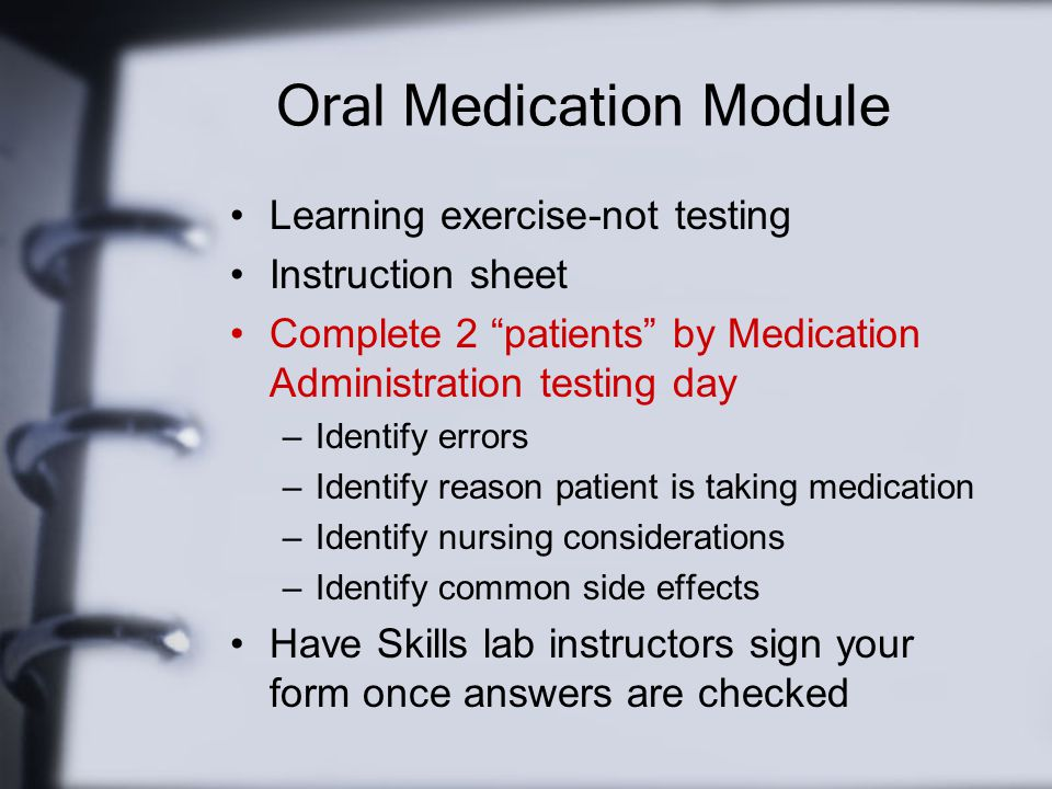 Oral Medication Module